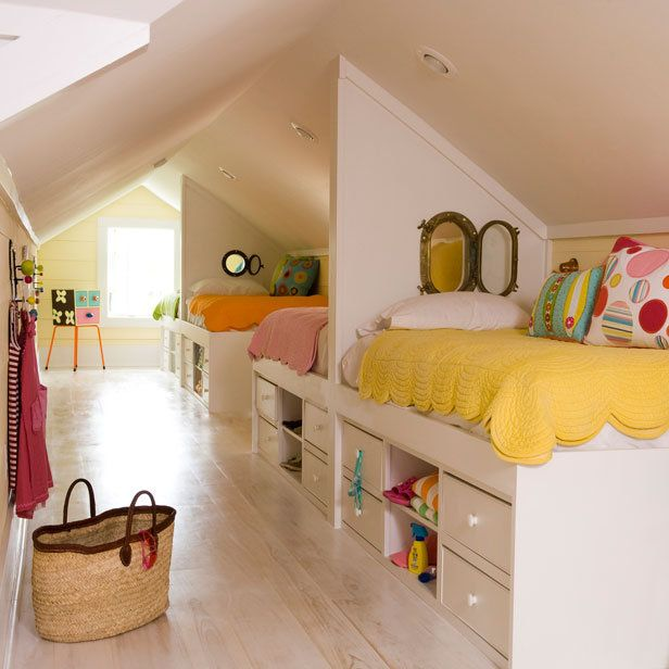 kids attic bedroom design ideas photo - 2