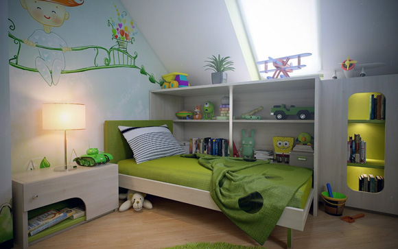kids attic bedroom design ideas photo - 4