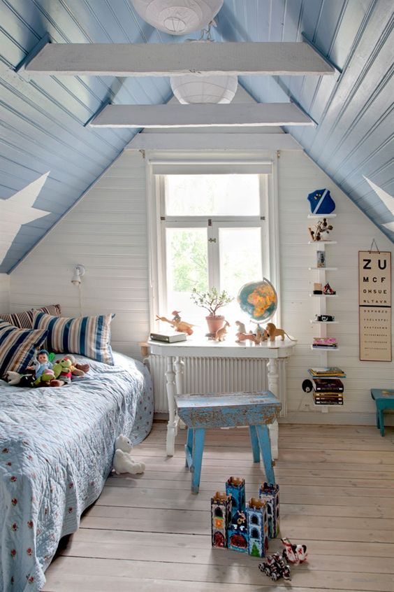 kids attic bedroom design ideas photo - 7