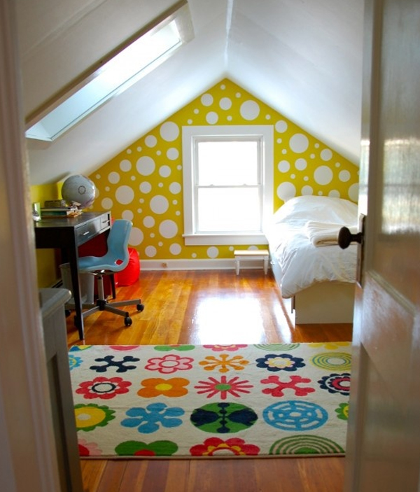 kids attic bedroom design ideas photo - 8