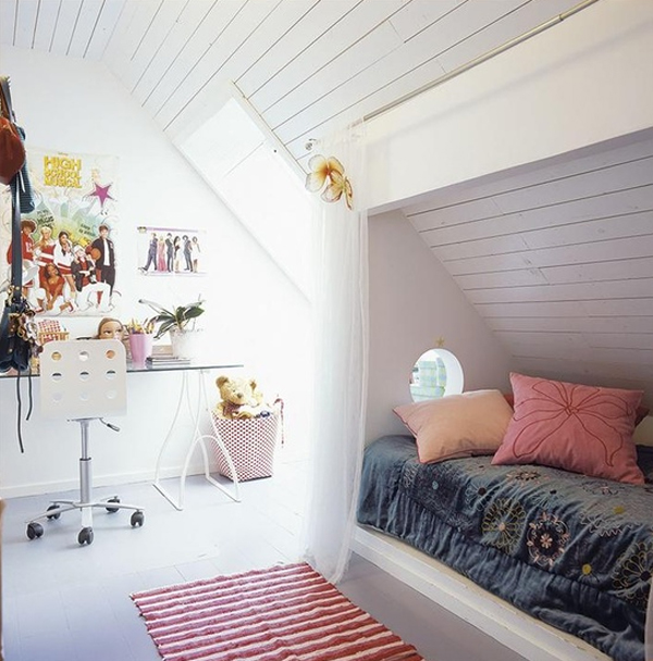 kids attic bedroom design ideas photo - 9