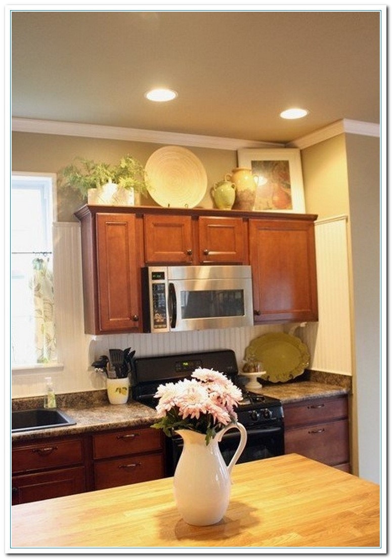 kitchen cabinet decorating ideas above photo - 4