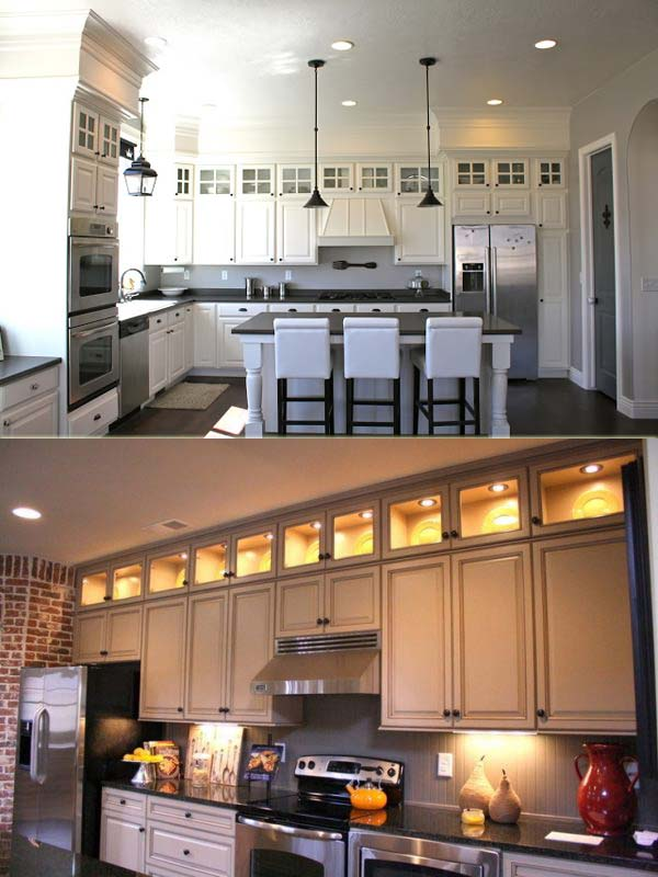 kitchen cabinet decorating ideas above photo - 5