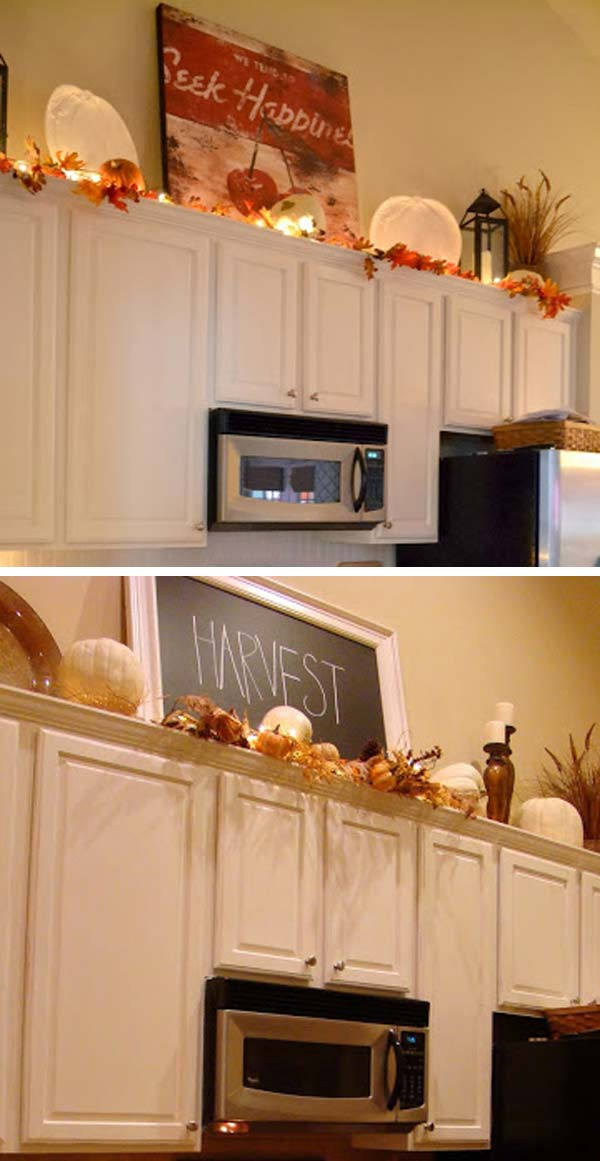 kitchen cabinet decorating ideas above photo - 7