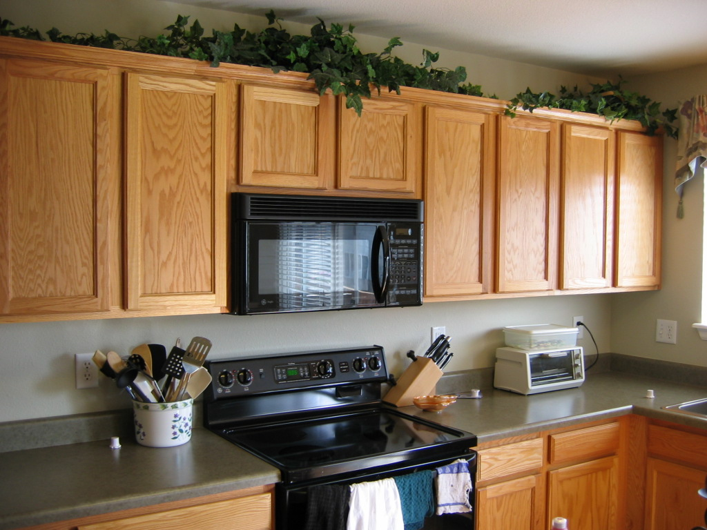 kitchen cabinet decorating ideas above photo - 8