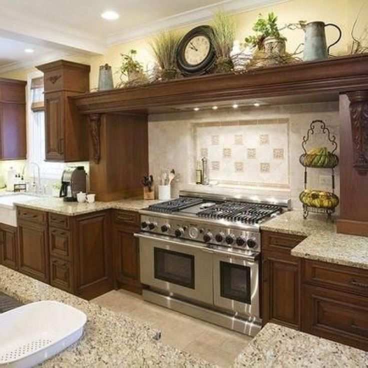 kitchen cabinet decorating ideas above photo - 9