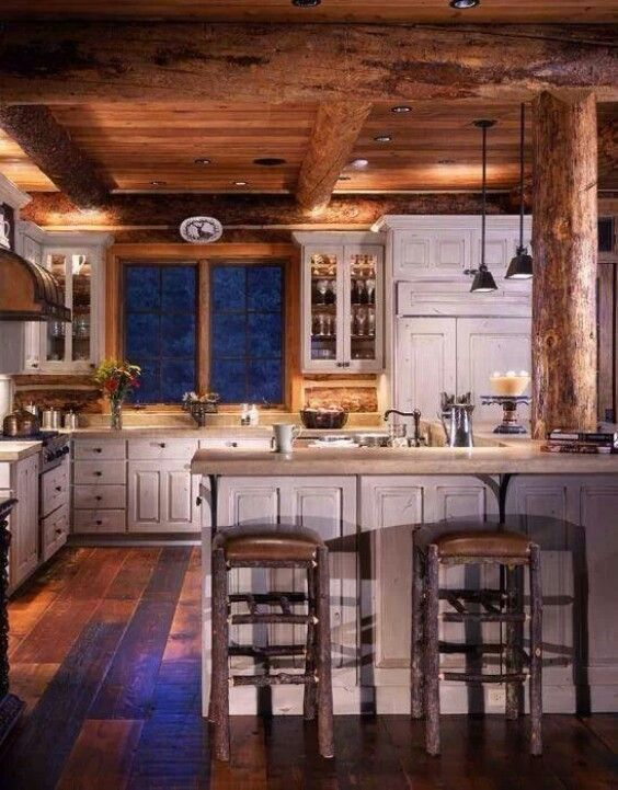 kitchen cabinet ideas for a cabin photo - 1