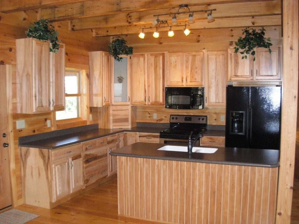kitchen cabinet ideas for a cabin photo - 7