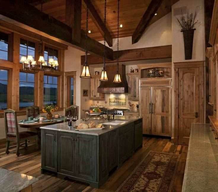 kitchen cabinet ideas for a cabin photo - 8