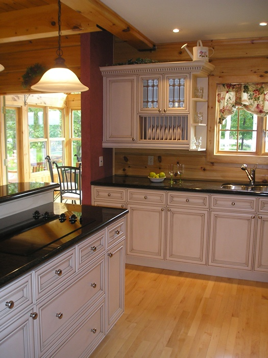 kitchen cabinet ideas for log homes photo - 4