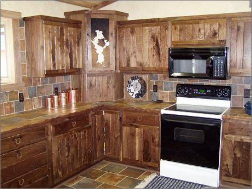 kitchen cabinet ideas rustic photo - 2