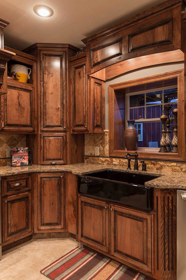 kitchen cabinet ideas rustic photo - 3