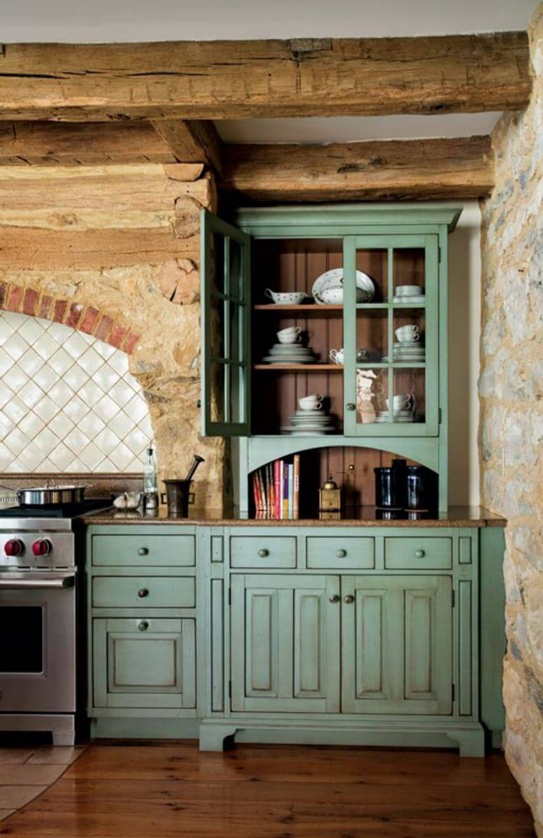kitchen cabinet ideas rustic photo - 6