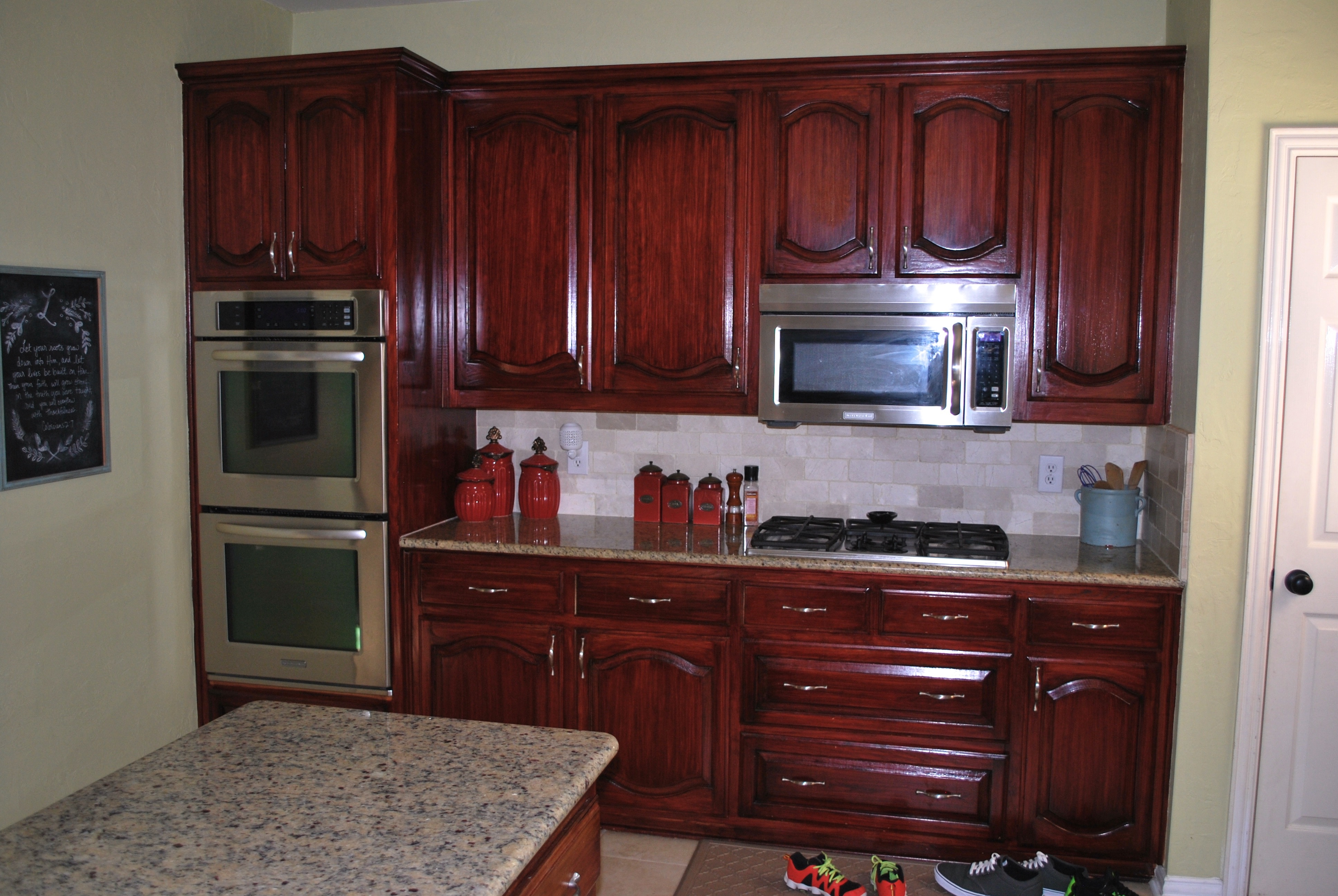 kitchen cabinet stain colors home depot photo - 8