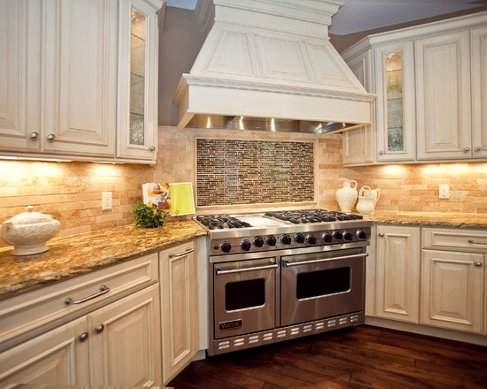 kitchen cabinets backsplash ideas photo - 1