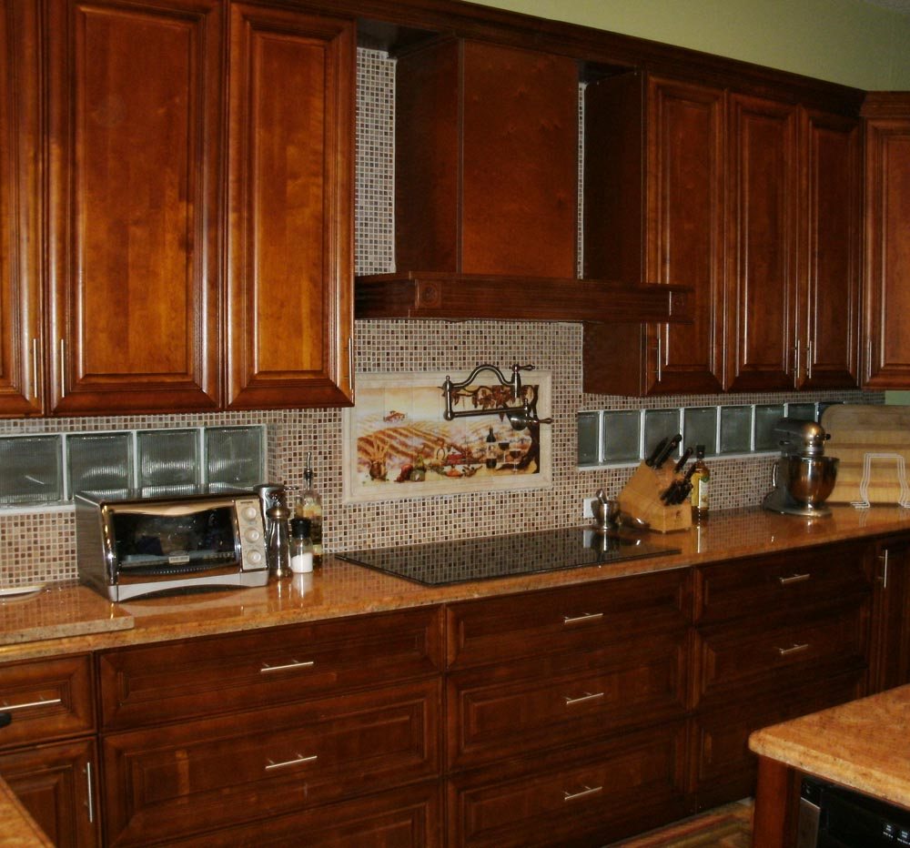 kitchen cabinets backsplash ideas photo - 9