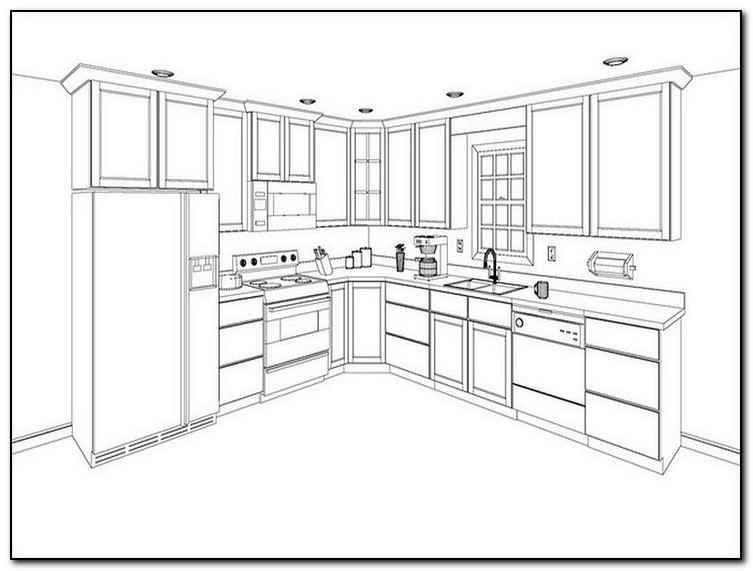 kitchen cabinets layout ideas photo - 2