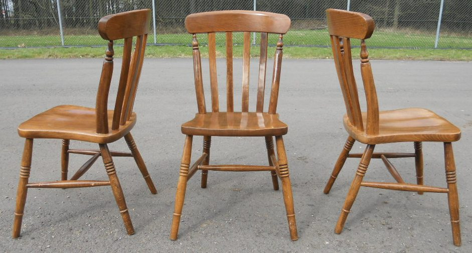 kitchen chairs beech photo - 5