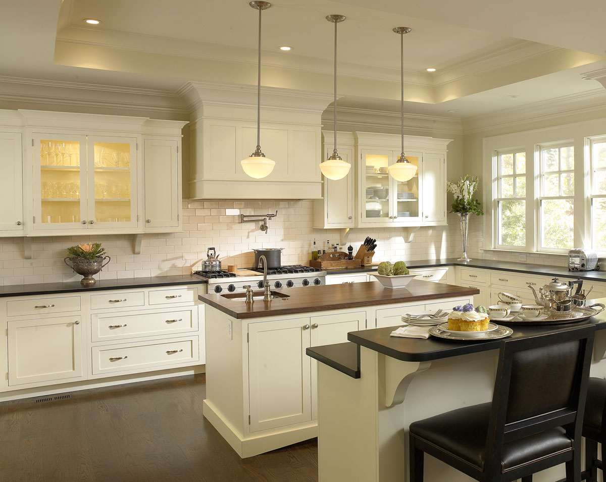 kitchen design ideas antique white photo - 7
