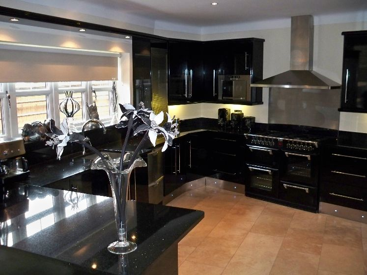 kitchen design ideas black cabinets photo - 2