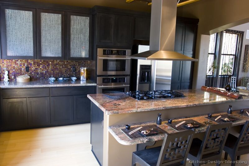kitchen design ideas black cabinets photo - 4