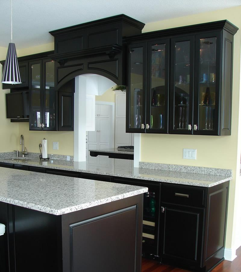 kitchen design ideas black cabinets photo - 8