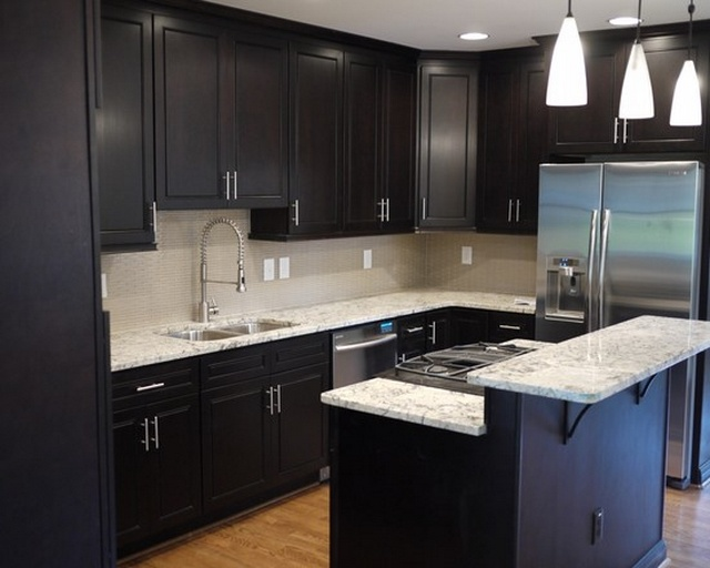 kitchen design ideas dark cabinets photo - 1