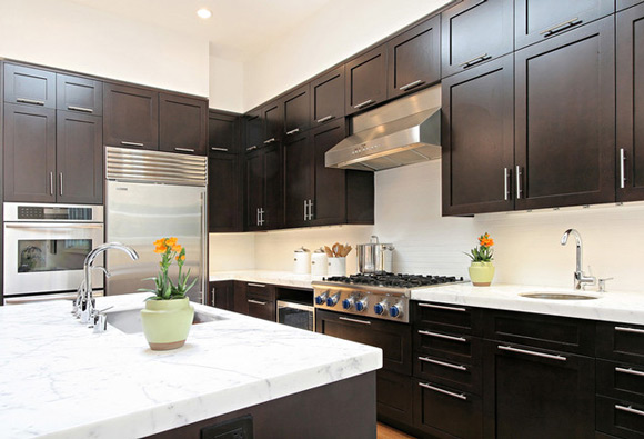 kitchen design ideas dark cabinets photo - 10