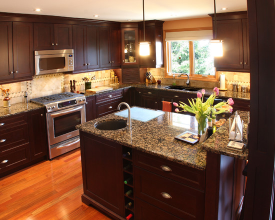 kitchen design ideas dark cabinets photo - 6
