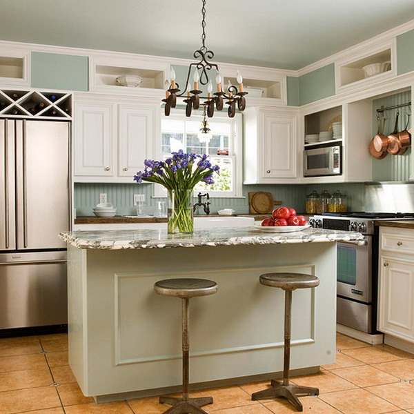kitchen design ideas for small kitchens island photo - 6