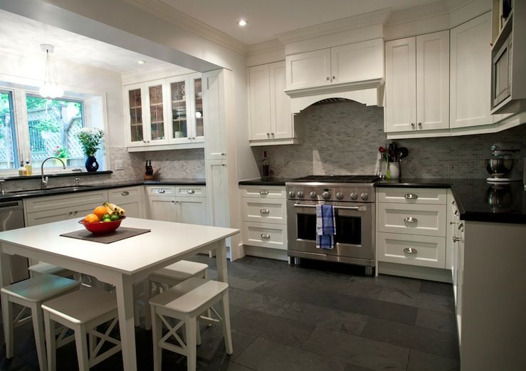 kitchen floor tile ideas with white cabinets photo - 10