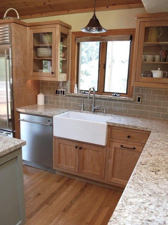kitchen ideas oak cabinets photo - 10