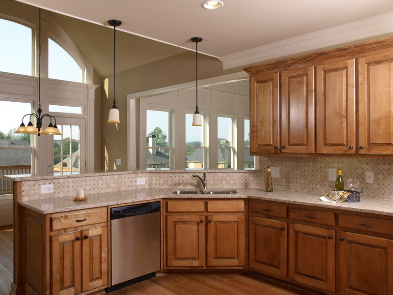 kitchen ideas oak cabinets photo - 2