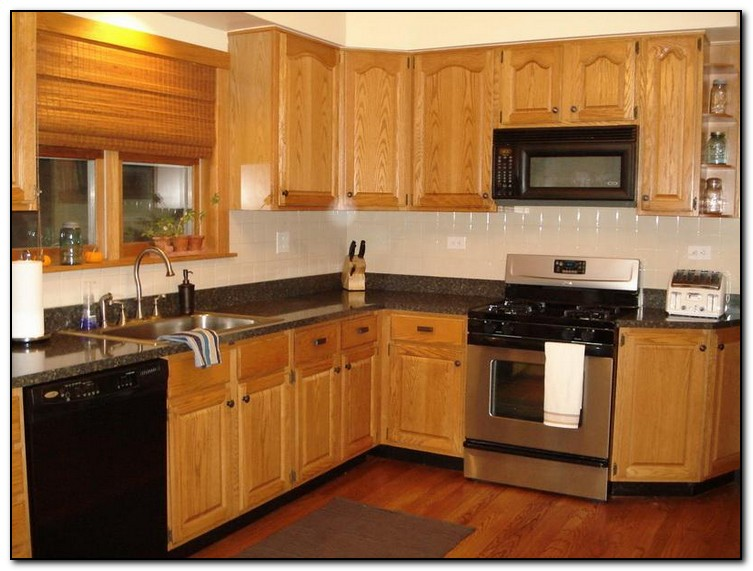 kitchen ideas oak cabinets photo - 4
