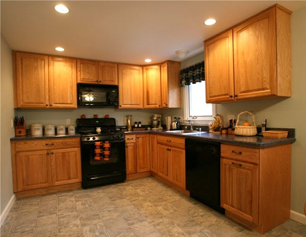 kitchen ideas oak cabinets photo - 7