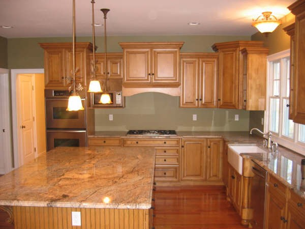 kitchen ideas wood cabinets photo - 2