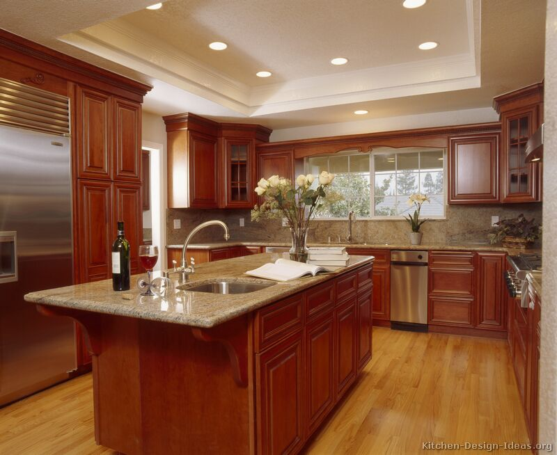 kitchen ideas wood cabinets photo - 3