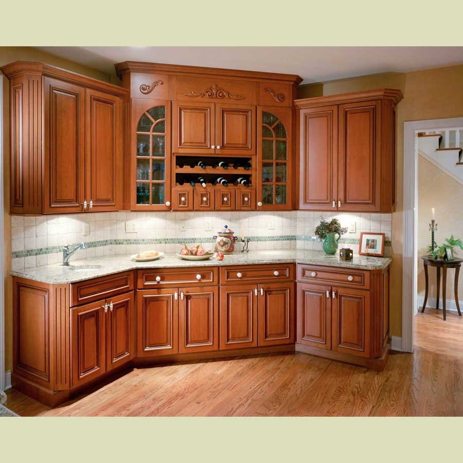 kitchen ideas wood cabinets photo - 4