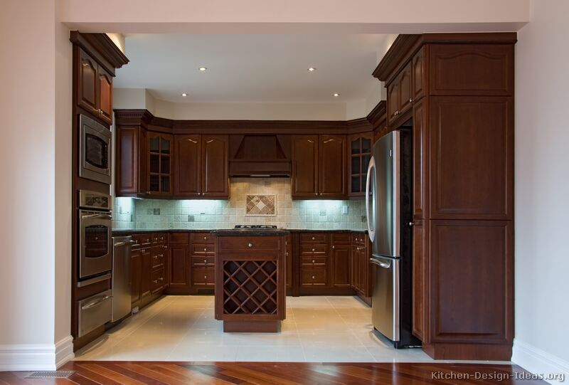 kitchen ideas wood cabinets photo - 5
