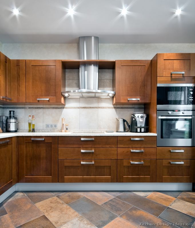 kitchen ideas wood cabinets photo - 6