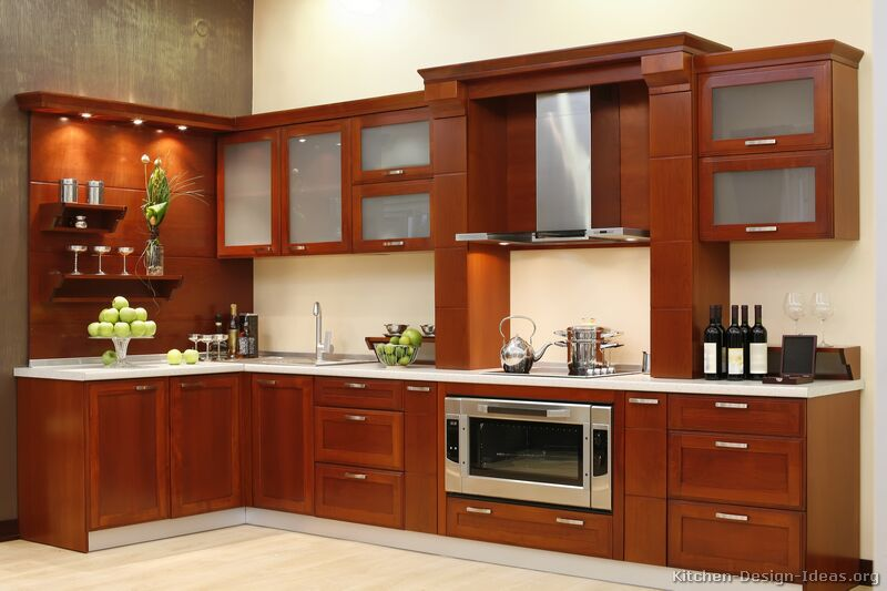 kitchen ideas wood cabinets photo - 7