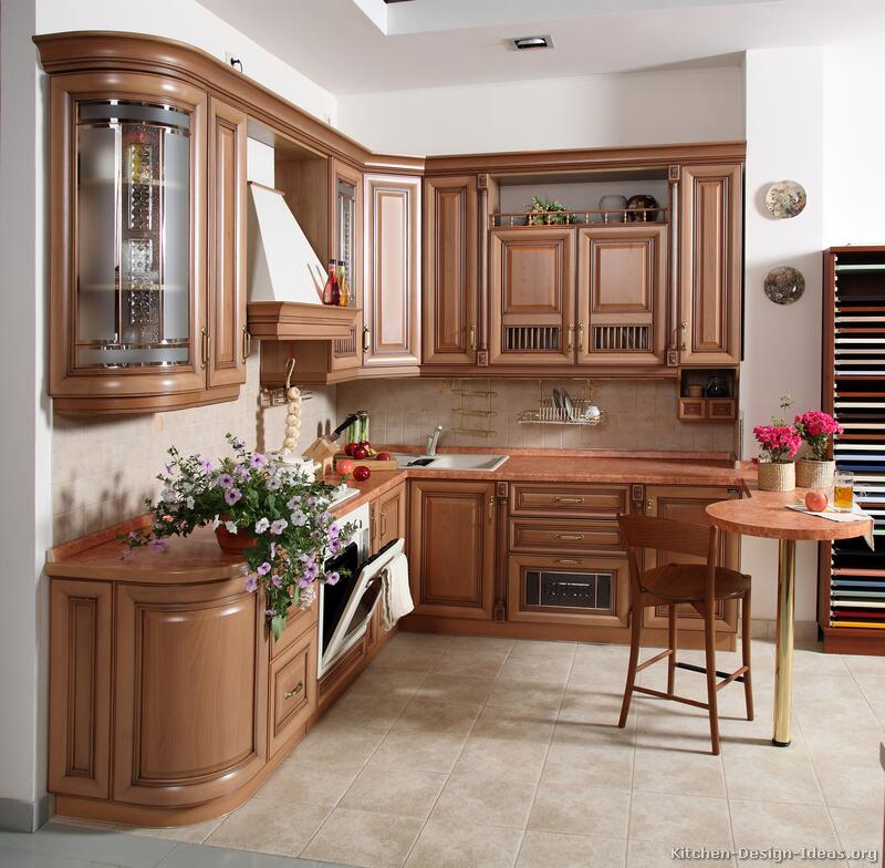 kitchen ideas wood cabinets photo - 8