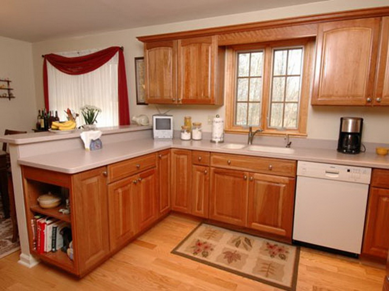 kitchen ideas wood cabinets photo - 9