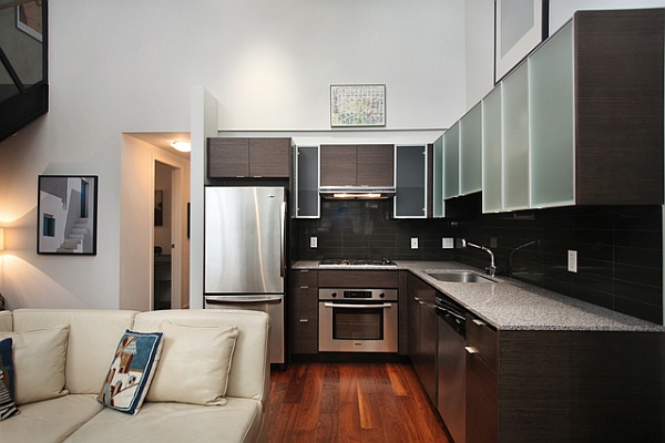 l shaped apartment kitchen photo - 1