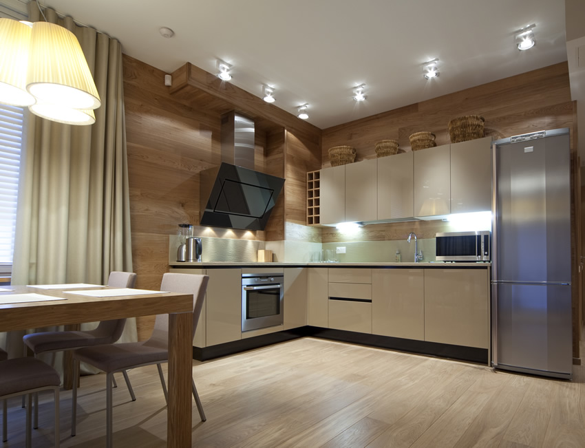 l shaped apartment kitchen photo - 3