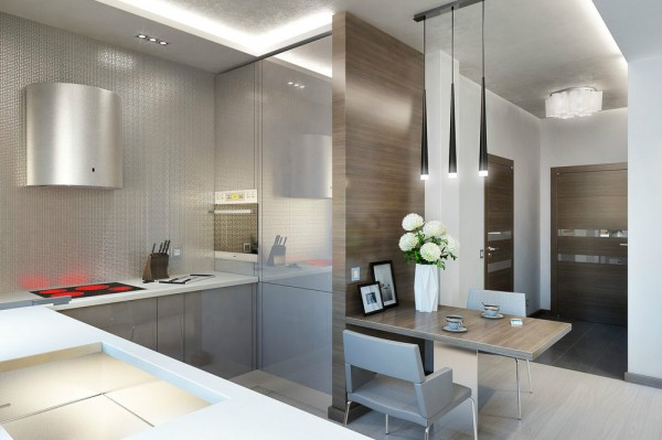 l shaped apartment kitchen photo - 4