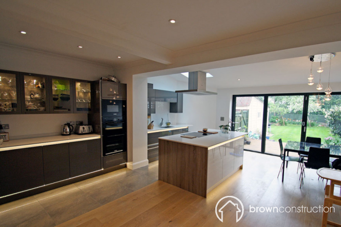 l shaped kitchen extensions photo - 3