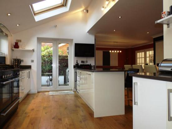 l shaped kitchen extensions photo - 5