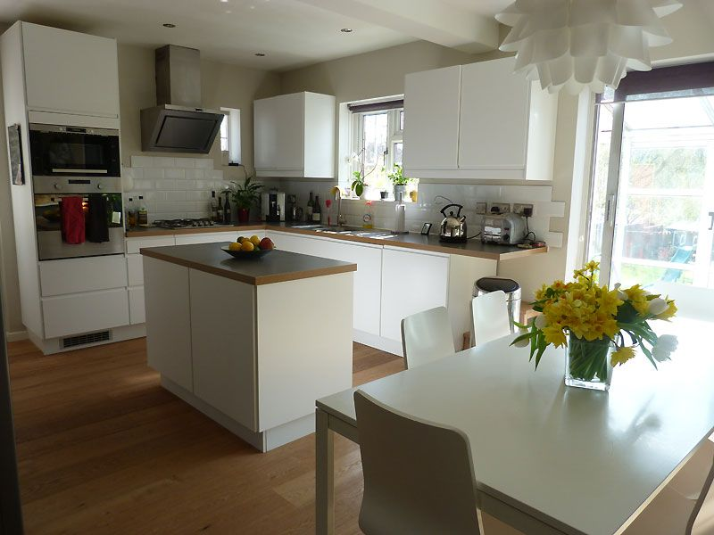 l shaped kitchen extensions photo - 9