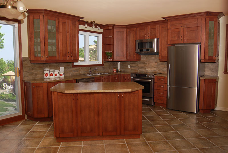 l shaped kitchen remodel photo - 10